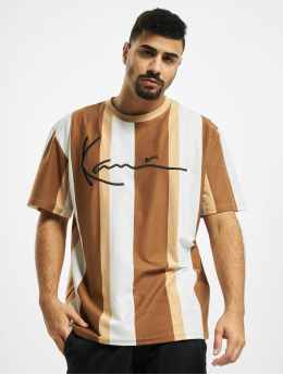 Karl Kani T-Shirt Kk Signature Stripe beige