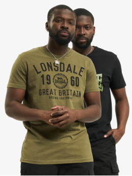 Lonsdale London T-Shirt Bangor 2-Pack  black