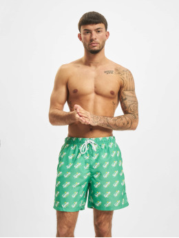 Merchcode Badeshorts Sprite Logo All Over Print green