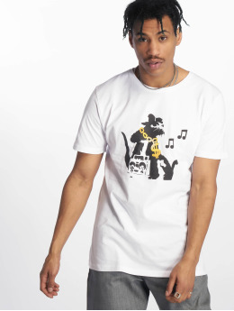 Merchcode T-Shirt Banksy Hiphop Rat white
