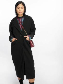 Missguided Coats Longline black