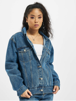 Missguided Denim Jacket Oversized blue