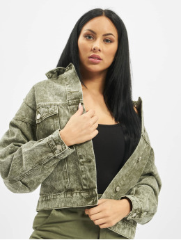 Missguided Denim Jacket 80s Batwing Oversized Denim khaki