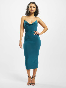 Missguided Dress Slinky Chain Detail Cowl  turquoise
