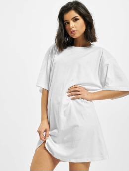 Missguided Dress Angel Back Print Oversized white