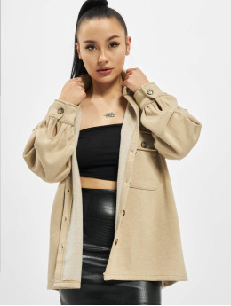 Missguided Lightweight Jacket Petite Soft Shacket beige