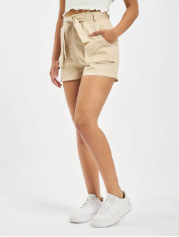 Missguided Short Utility Pocket Detail Tie Waist beige
