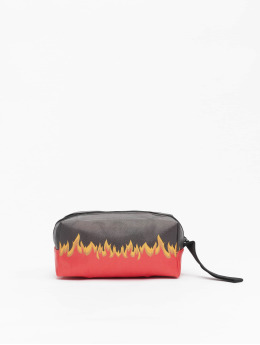 Mister Tee Bag Flame Print Cosmetic Pouch black