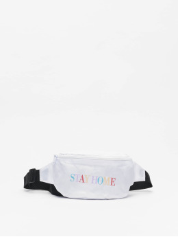 Mister Tee Bag Stay Home white