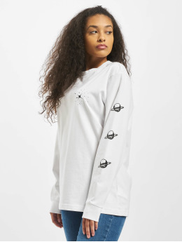 Mister Tee Longsleeve Ladies Planet Unicorn white