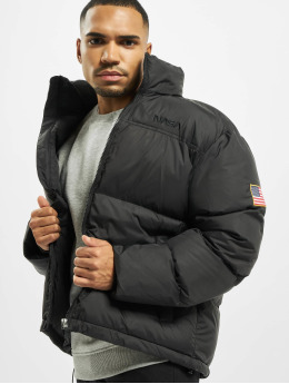 Mister Tee Puffer Jacket Nasa Two-Toned  black
