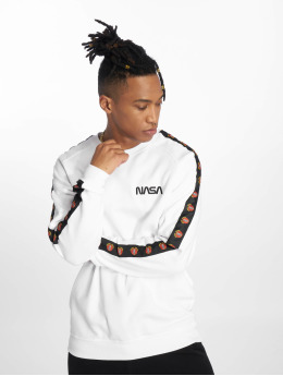 Mister Tee Pullover Nasa Small Wormlogo Emb Rocket Tape white
