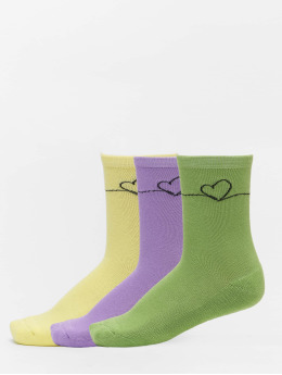 Mister Tee Socks Heart Oneline 3 Pack  colored