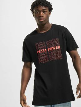Mister Tee T-Shirt Pizza Power black