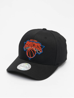 Mitchell & Ness Snapback Cap NBA New York Knicks Neon Lights black