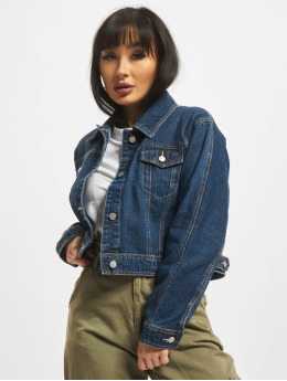NA-KD Denim Jacket Short  blue