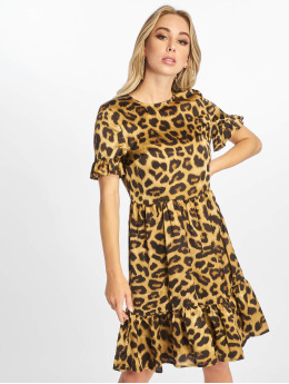 NA-KD Dress Midi Frill brown
