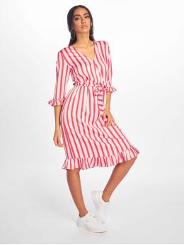 NA-KD Dress Small Flower Wrap  pink