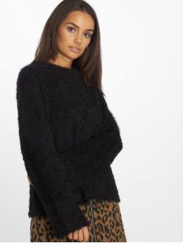 NA-KD Pullover Feather Wide Sleeve black