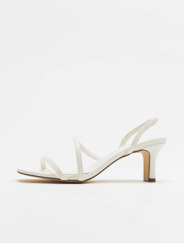 NA-KD Sandals Asymmetric Straps white