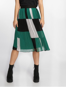 NA-KD Skirt Block Colored Pleated green