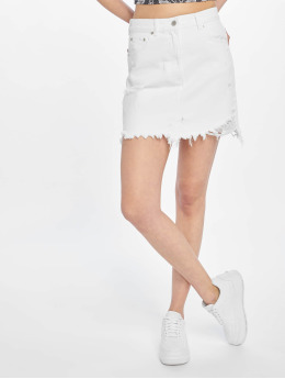 NA-KD Skirt Distressed  white