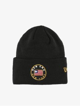 New Era Hat-1 Flagged Cuff Knit black