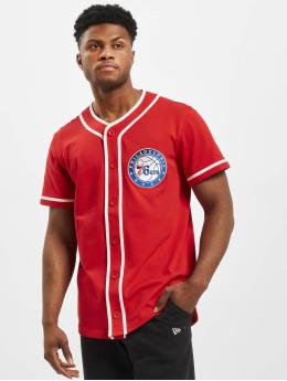 New Era Shirt NBA Philadelphia 76ers Piping Button Up red