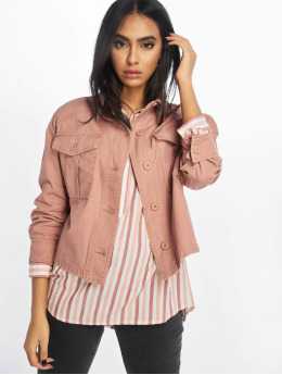 New Look Denim Jacket Bonnie Cropped Utility Shacket rose
