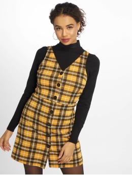 New Look Dress Mustard Check BTN Thru Pinny yellow