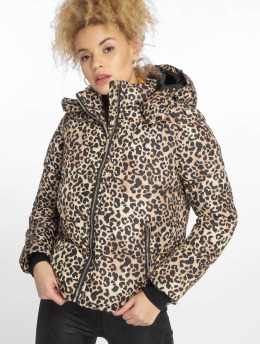 New Look Puffer Jacket Animal Print brown