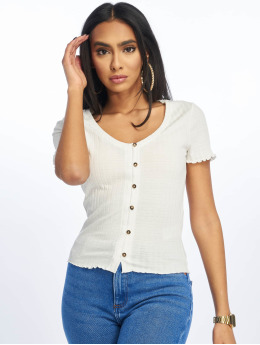 New Look Top Rouloux Button white