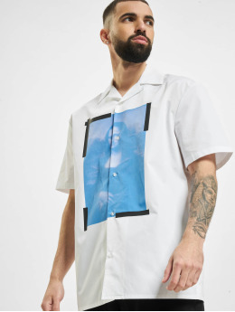 Off-White Shirt Blue Monalisa Holiday white