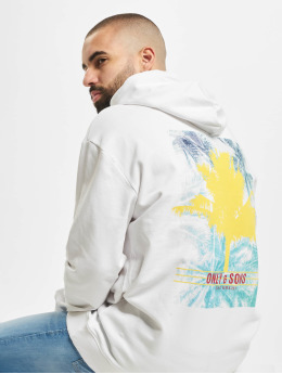 Only & Sons Hoodie onsBan Oversize white