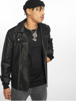 Only & Sons Leather Jacket onsMike black