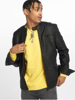 Only & Sons Leather Jacket onSal Racer Pu black