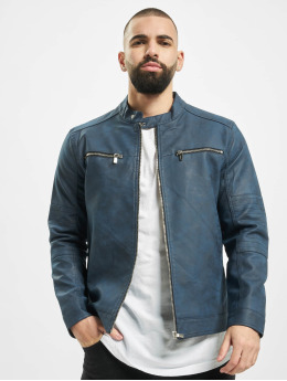 Only & Sons Leather Jacket onsFavour Jupiter Pu indigo