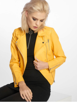 Only Leather Jacket onlGemma Noos Faux Leather yellow