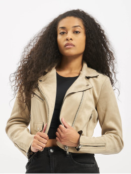 Only Lightweight Jacket onlSherry Crop beige