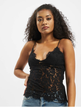 Pieces Top pcAura Strap Lace  black