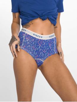 Pieces Underwear Pclogo Flower blue