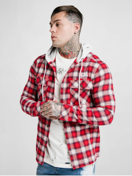 Sik Silk Lightweight Jacket L/S Hooded Flannel red