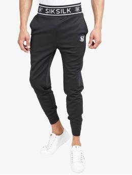 Sik Silk Sweat Pant Branded Rib black