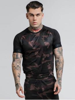 Sik Silk T-Shirt Raglan Tech camouflage