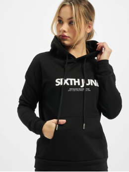 Sixth June Hoodie Basic Logo  black