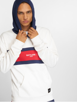 Sixth June Hoodie Flag Logo white