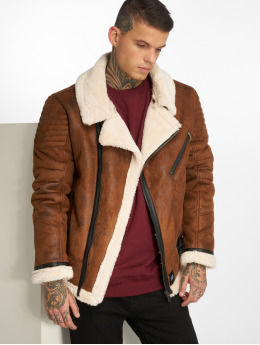 Sixth June Leather Jacket Regular Perfecto brown
