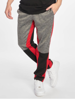 Southpole Sweat Pant Color Block Marled black