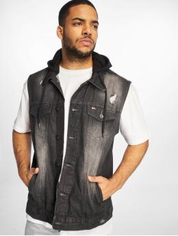 Southpole Vest Hooded  black