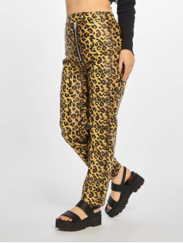 The Ragged Priest Chino pants Leopard PU Motor brown